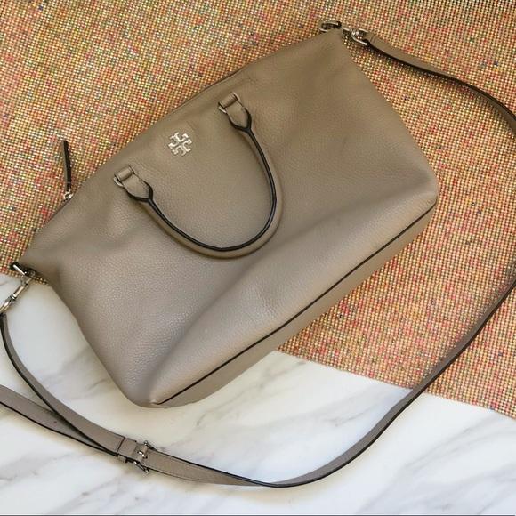 Tory Burch Handbags - Authentic Tory Burch gray satchel crossbody